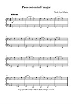 Procession in F major - Bass Clef-Only Elementary Piano Piece